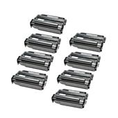999inks Compatible Eight Pack Lexmark 12A3715 Black Laser Toner Cartridges
