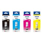 Epson 104 Full Set Original Inkjet Printer Cartridges