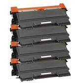 Compatible Quad Pack Brother TN2210 Laser Toner Cartridges