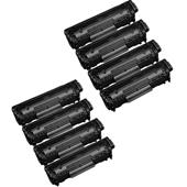 999inks Compatible Eight Pack Canon 703 Black Laser Toner Cartridges