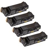 Compatible Quad Pack Xerox 106R03620 Black Standard Capacity Laser Toner Cartridges