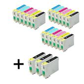 999inks Compatible Multipack Epson T0481 3 Full Sets + 3 FREE Black Inkjet Printer Cartridges