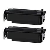 999inks Compatible Twin Pack Lexmark 12A4715 Black High Capacity Laser Toner Cartridges