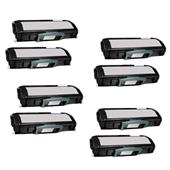 Compatible Eight Pack Dell 593-10501 Black Laser Toner Cartridges