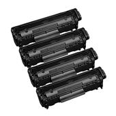 999inks Compatible Quad Pack Canon 703 Black Laser Toner Cartridges