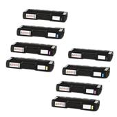 999inks Compatible Multipack Ricoh 407716/19 2 Full Sets Laser Toner Cartridges