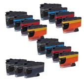 Compatible Multipack Brother LC3235XL 3 Full Sets + 3 FREE Black Inkjet Printer Cartridges