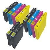 Compatible Multipack Epson T02W14 2 Full Sets + 2 FREE Black Inkjet Printer Cartridges