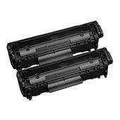 999inks Compatible Twin Pack Canon 703 Black Laser Toner Cartridges