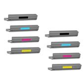 Compatible Multipack Lexmark C925H2KG/YG 2 Full Sets Laser Toner Cartridges