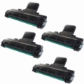 Compatible Quad Pack Samsung ML-2010D3 Black Laser Toner Cartridges
