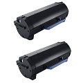 999inks Compatible Twin Pack Dell 593-11167 Black Laser Toner Cartridges