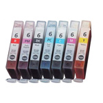 999inks Compatible Multipack Canon BCI-6BK/C/M/Y/R/PC/PM 1 Full Set Inkjet Printer Cartridges