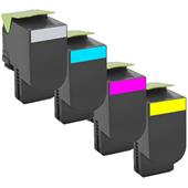 999inks Compatible Multipack Lexmark 70C2HK/Y0 1 Full Set High Capacity Laser Toner Cartridges
