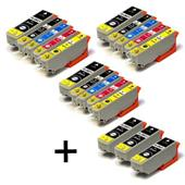 Compatible Multipack Epson T2621 3 Full Sets + 3 FREE Black Inkjet Printer Cartridges