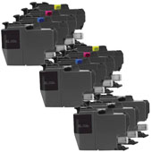 Compatible Multipack Brother LC3219XL 2 Full Sets + 2 FREE Black Inkjet Printer Cartridges