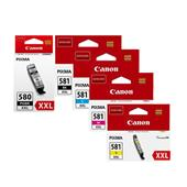 Canon PGI580XXL/CLI581XXL Full Set Extra High Capacity Original Inkjet Printer Cartridges