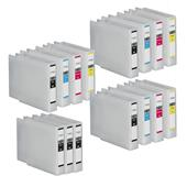 Compatible Multipack Epson T7551 3 Full Sets + 3 FREE Black Inkjet Printer Cartridges