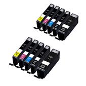 999inks Compatible Multipack Canon PGI-550PGBKXL and CLI-551BK/C/M/YXL 2 Full Sets Inkjet Printer Cartridges