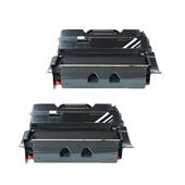 999inks Compatible Twin Pack Lexmark 64416XE Black Extra High Capacity Laser Toner Cartridges