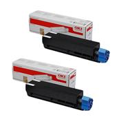 OKI 45807102 Black Original Standard Capacity Laser Toner Cartridge Twin Pack