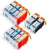 Compatible Multipack Canon BCI-3eK and BCI-6C/M/Y 2 Full Sets + 2 FREE Black Inkjet Printer Cartridges