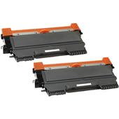 Compatible Twin Pack Brother TN2220 High Capacity Laser Toner Cartridges