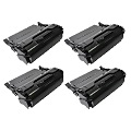 999inks Compatible Quad Pack Lexmark T650A11E Black High Capacity Laser Toner Cartridges