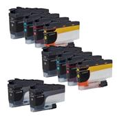 Compatible Multipack Brother LC3233 2 Full Sets + 2 FREE Black Inkjet Printer Cartridges