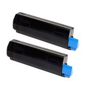 999inks Compatible Twin Pack Oki 45807111 Black High Capacity Laser Toner Cartridges