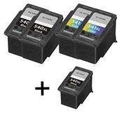 999inks Compatible Multipack Canon PG-540XL and CL-541XL 2 Full Sets + 1 Extra Black Inkjet Printer Cartridges