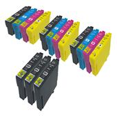 Compatible Multipack Epson T02W14 3 Full Sets + 3 FREE Black Inkjet Printer Cartridges