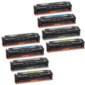 Compatible Multipack Canon 731BK/C/M/Y 2 Full Sets Standard Capacity Laser Toner Cartridges