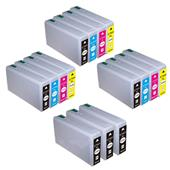 999inks Compatible Multipack Epson T7901 3 Full Sets + 3 FREE Black Inkjet Printer Cartridges