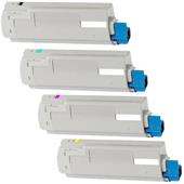 999inks Compatible Multipack Oki 43324421/24 1 Full Set Laser Toner Cartridges