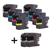 999inks Compatible Multipack Brother LC127XL /LC125XL 2 Full Sets + 2 FREE Black Inkjet Printer Cartridges