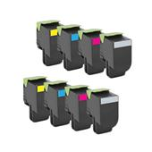 Compatible Multipack Lexmark 80C2SK0/Y0 2 Full Sets Standard Capacity Laser Toner Cartridges