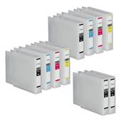 Compatible Multipack Epson T7551 2 Full Sets + 2 FREE Black Inkjet Printer Cartridges