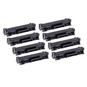 Compatible Eight Pack Brother TN2410 Black Standard Capacity Laser Toner Cartridges