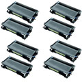 999inks Compatible Eight Pack Brother TN3280 Black High Capacity Laser Toner Cartridges