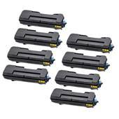 Compatible Eight Pack Kyocera TK-7300 Black Laser Toner Cartridges