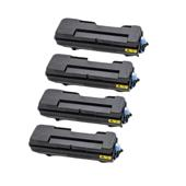 Compatible Quad Pack Kyocera TK-7300 Black Laser Toner Cartridges