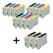 999inks Compatible Multipack Epson T1631 3 Full Sets + 3 FREE Black Inkjet Printer Cartridges
