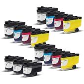 Compatible Multipack Brother LC3239XL 3 Full Sets + 3 FREE Black Inkjet Printer Cartridges
