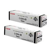 Canon C-EXV43 Black Original Laser Toner Cartridge Twin Pack