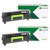 Lexmark B222H00 Black Original High Capacity Return Program Toner Cartridges Twin Pack