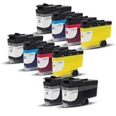 Compatible Multipack Brother LC3239XL 2 Full Sets + 2 FREE Black Inkjet Printer Cartridges