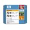 HP 70Black Original Photo Ink Cartridge(Twin Pack) (CB340A)