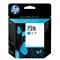 HP 728 Cyan Original Standard Ink Cartridge (F9J63A)