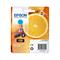 Epson 33 (T33424010) Cyan Original Claria Premium Standard Capacity Ink Cartridge (Orange)